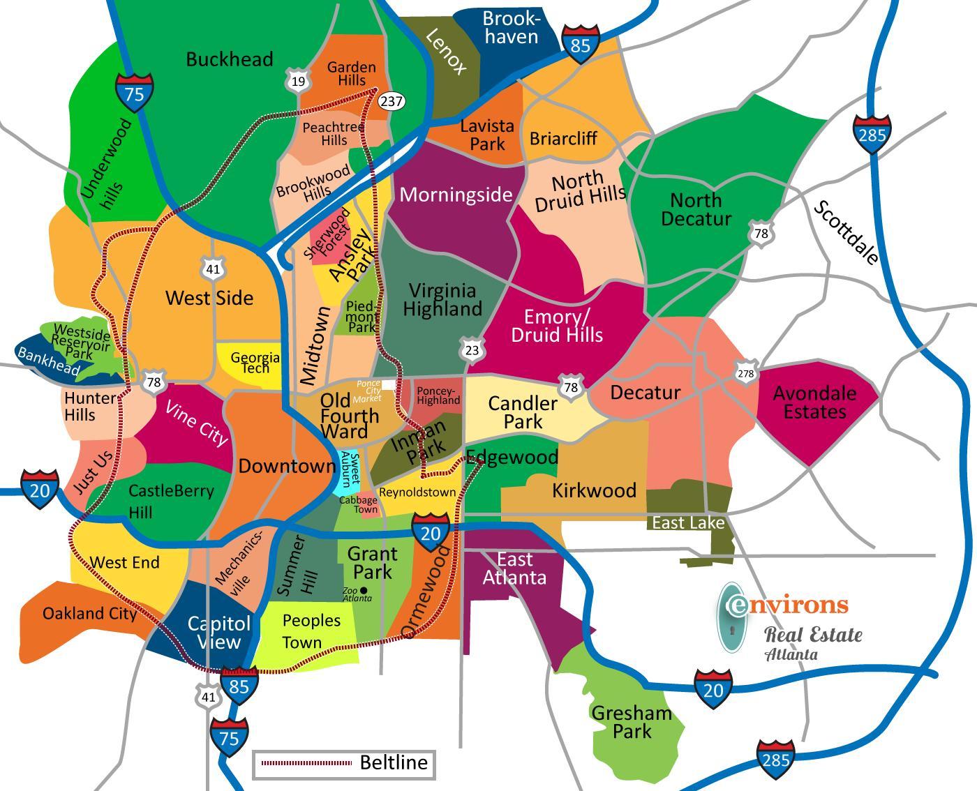 Atlanta mapa del estado atlanta georgia en el mapa estados atlanta georgia en el mapa gumiabroncs Choice Image