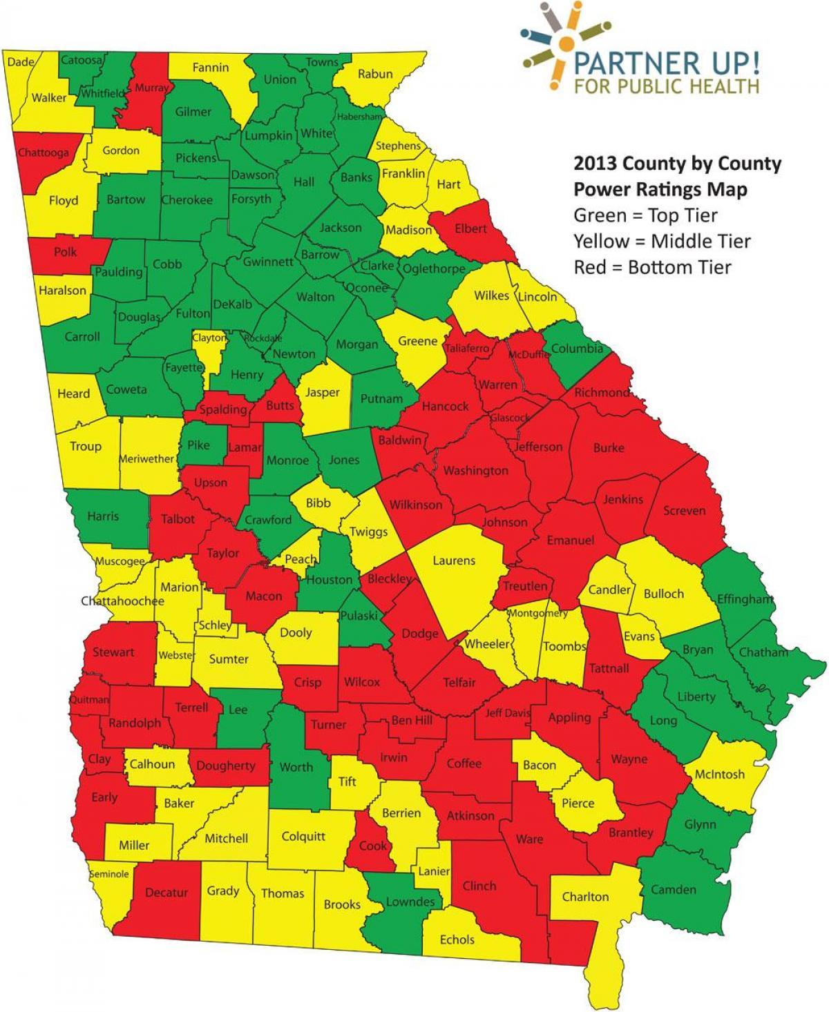 Condado De Georgia Del Mapa Mapa De Los Condados De Georgia - Mapa de georgia
